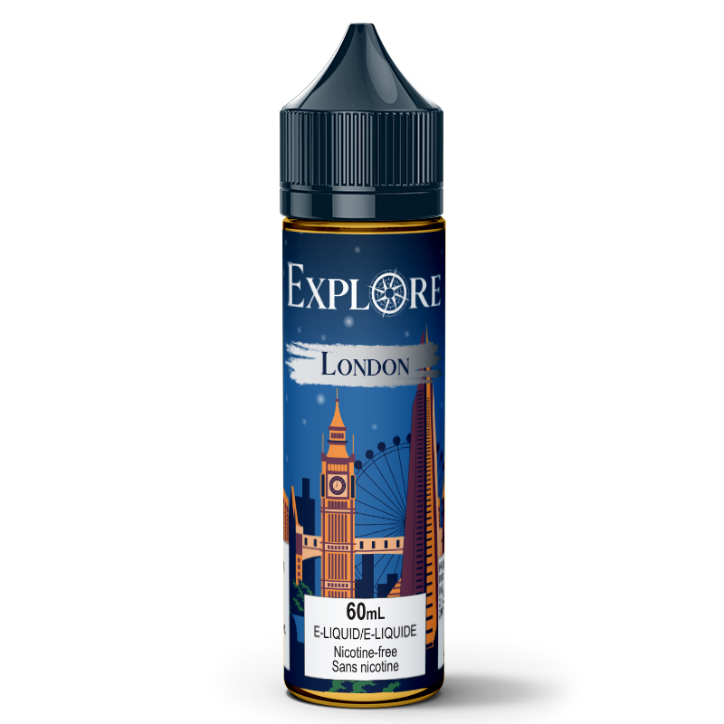 London E-Liquid - Explore (60mL): 0mg/mL