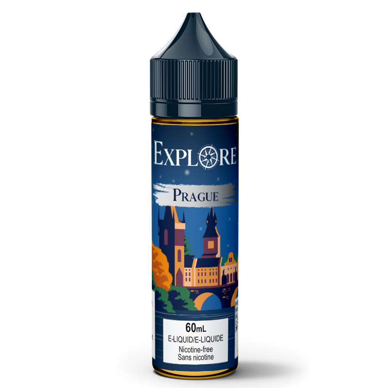 Prague E-Liquid - Explore (60mL): 0mg/mL