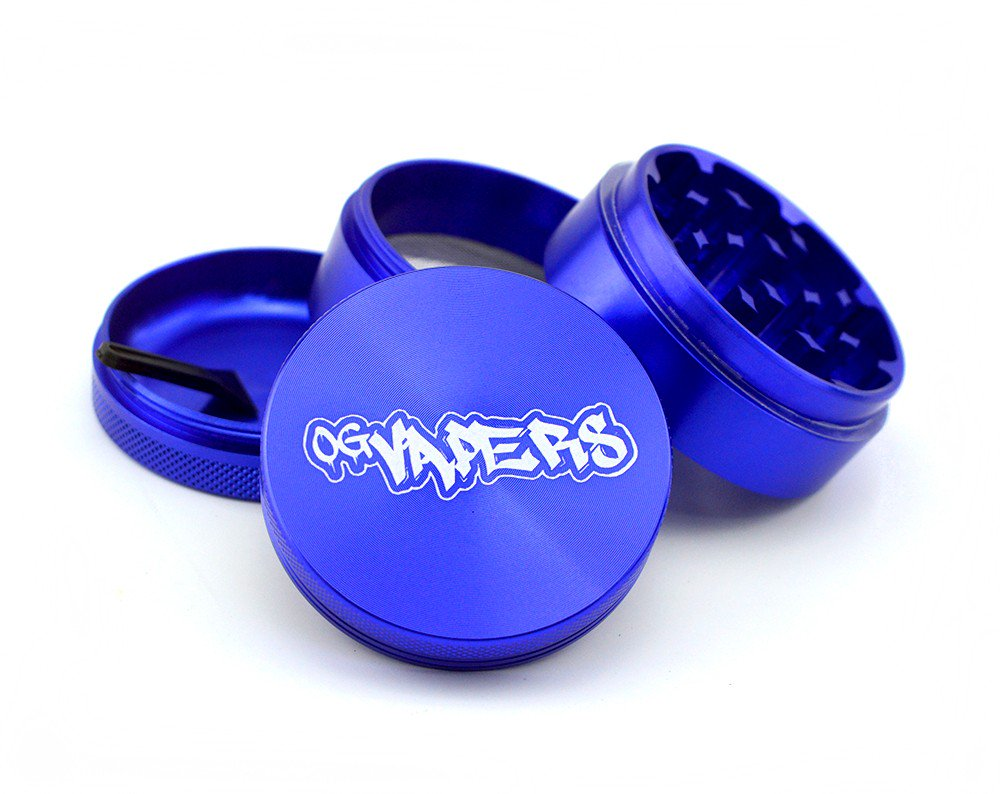 OG Vapers 4-piece Grinder and Sifter - BLUE