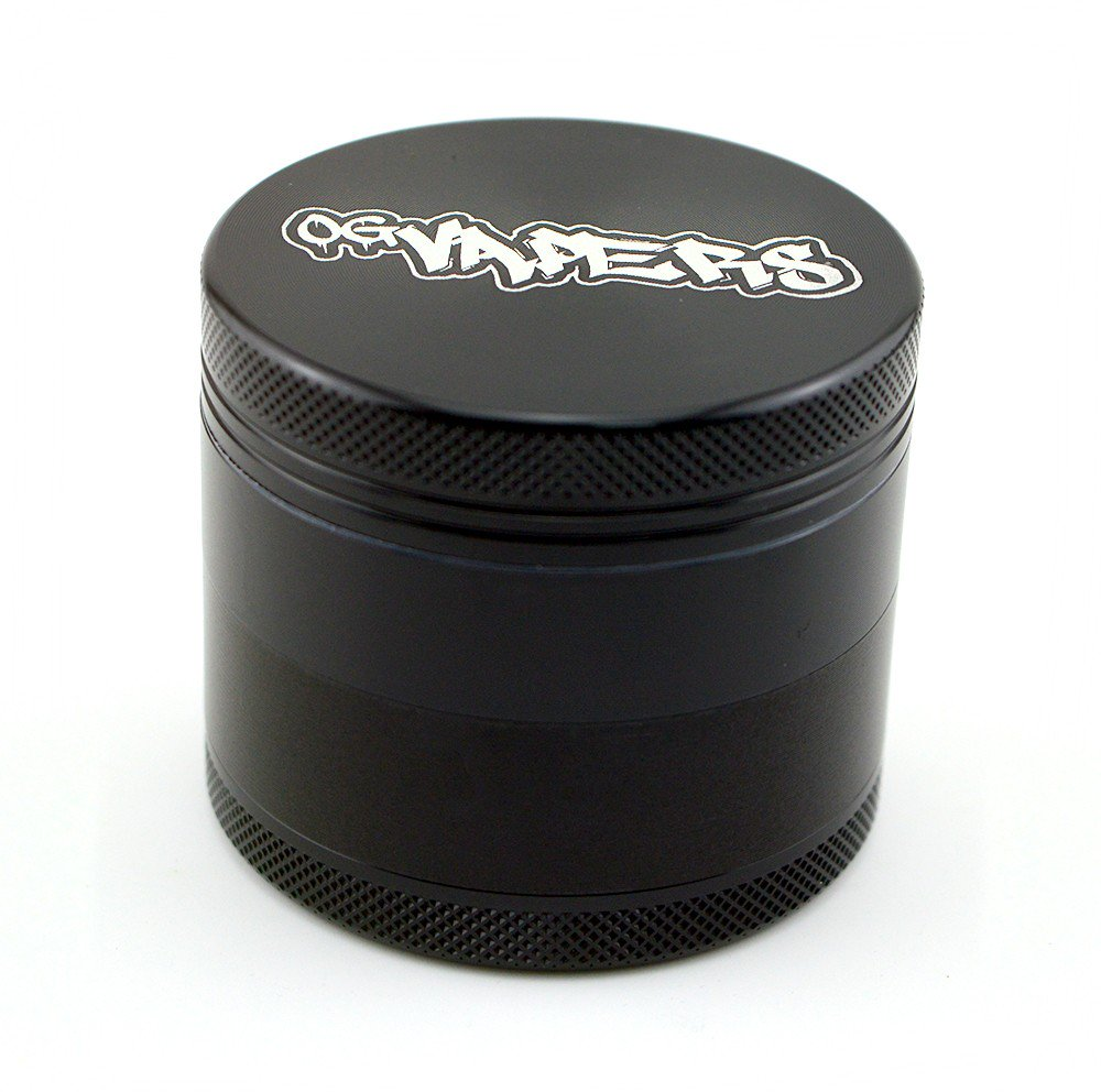 OG Vapers 4-piece Grinder and Sifter - BLACK