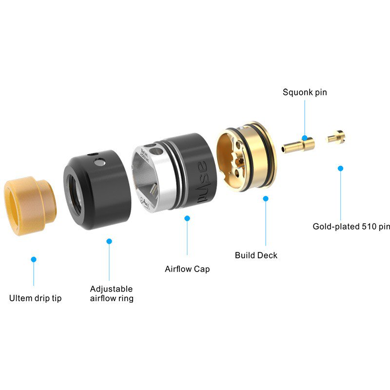 Vandy Vape Pulse 22 BF RDA - Exploded View