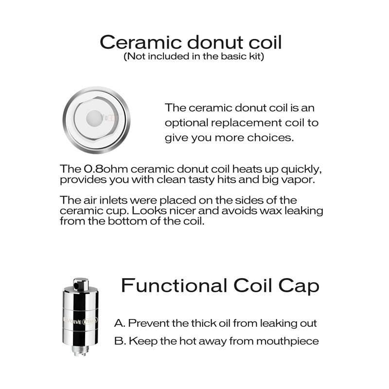 Yocan Evolve Plus Ceramic Donut Coils - 0.8ohm